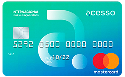 Pré-Pago Acesso Chip Mastercard Internacional
